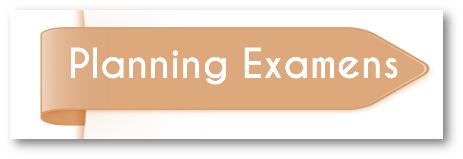 Planning des examens 1er Semestre / 1ère année SNV