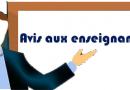 AVIS AUX ENSEIGNANTS DÉBUT (COURS-TD-TP)