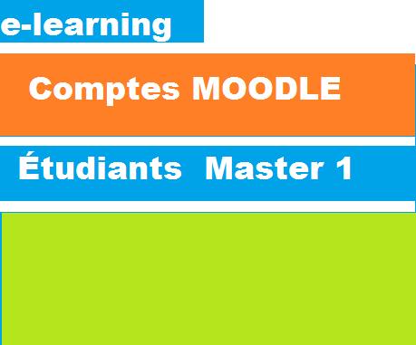 Comptes Moodle e-learning