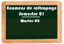 EXAMENS DE RATTRAPAGE MASTER 2
